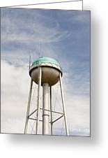 Water Tower With A Cellphone Transmitter Greeting Card by Paul Edmondson