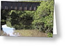 Water Under A Bridge Greeting Card