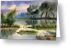 Water View Landscape Greeting Card