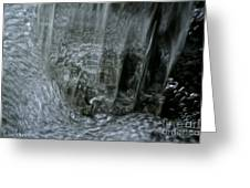 Water Wall And Whirling Bubbles Greeting Card