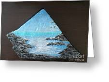 Water With Rocks Greeting Card