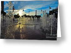 Water Works Greeting Card