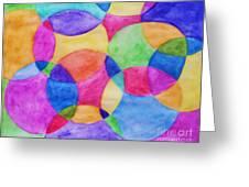 Watercolor Circles Abstract Greeting Card