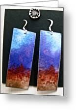 Watercolor Earrings Artists Favorite Greeting Card
