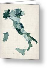Watercolor Map Of Italy Greeting Card