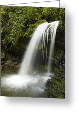 Waterfall At Springtime Greeting Card