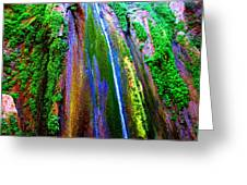 Waterfall  Greeting Card by Catherine Natalia  Roche
