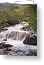 Waterfall In The Highlands Greeting Card