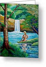 Waterfall Nymph Greeting Card