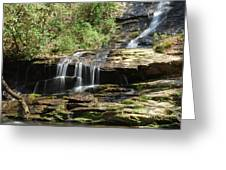 Waterfall Over Rocks Greeting Card