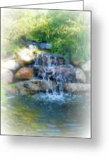 Waterfall Greeting Card by Rebecca Frank