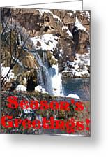 Waterfall Seasons Greeting Greeting Card