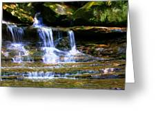 Waterfall Trio At Mcconnells Mill State Park Greeting Card