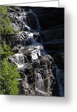 Waterfalls Along Going-to-the-sun Road Greeting Card