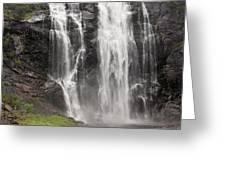Waterfalls Over A Cliff Norway Greeting Card