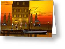 Waterfront Ocean Scene Greeting Card