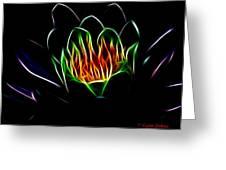 Waterlily Fractal Greeting Card