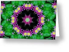 Waterlily Kaleidoscope Greeting Card
