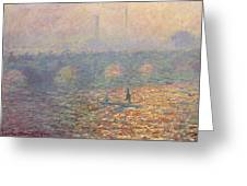Waterloo Bridge Greeting Card by Claude Monet