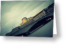 Waterloo Bridge Greeting Card by Jacqui Collett