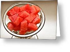 Watermelon Parfait 2 Greeting Card