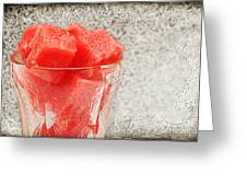 Watermelon Parfait 3 Greeting Card