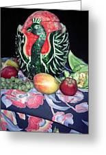Watermelon Swan Greeting Card