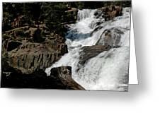 Waters Flow Glen Alpine Falls Greeting Card
