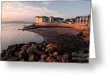 Waterside At Exmouth Greeting Card