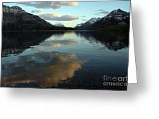 Waterton Lake Sunset Canada Greeting Card