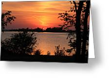 Waubaushene Sunset Greeting Card