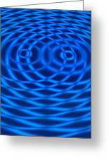 Wave Interference Patterns, Artwork Greeting Card