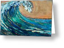 Wave To The South Greeting Card