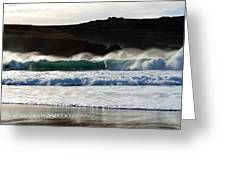 Waves At Clogher Beach Greeting Card