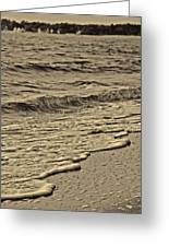 Waves At The Beach Greeting Card