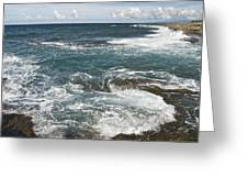 Waves Breaking On Shore  7918 Greeting Card