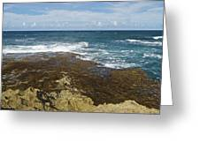 Waves Breaking On Shore 7930 Greeting Card