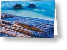 Waves Crashing On Rocky Shoreline Greeting Card