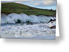 Waves In Dingle Greeting Card