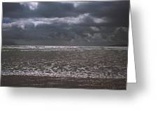 Waves On Beach Greeting Card