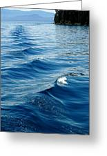 Waves On Tahoe Greeting Card