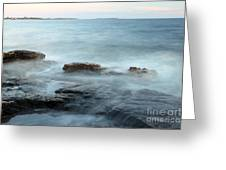 Waves On The Coast Greeting Card