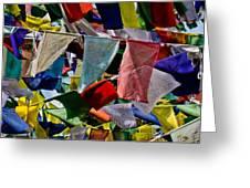 Waving Prayer Flags Greeting Card