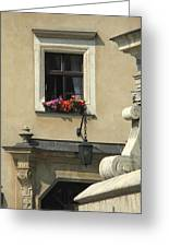 Wawel Flower Box And Achitecture Greeting Card