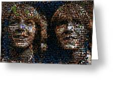 Weasley Twins Mosaic Greeting Card