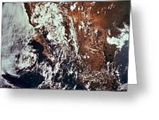 Weather Patterns Over Earth Greeting Card