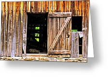 Weathered Barn Door Greeting Card