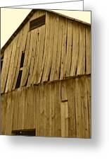 Weathered Barn I In Sepia Greeting Card