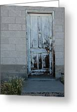Weathered Door Virginia City Nevada Greeting Card