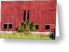 Weathered Red Barn Of New Jersey Greeting Card